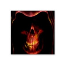Glowing red grim reaper Sticker