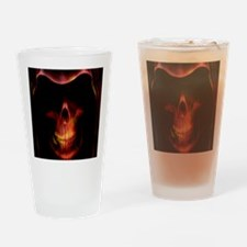 Glowing red grim reaper Drinking Glass
