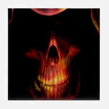 Glowing red grim reaper Tile Coaster