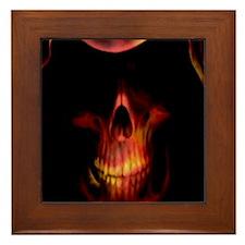 Glowing red grim reaper Framed Tile