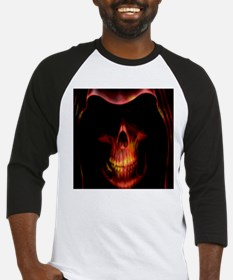 Glowing red grim reaper Baseball Jersey