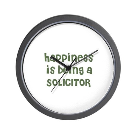 Happiness is being a SOLICITO Wall Clock
