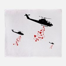 Make Love Not War Throw Blanket
