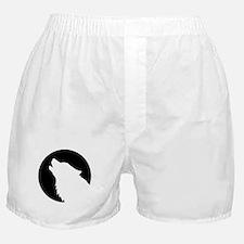 Wolf moon night Boxer Shorts