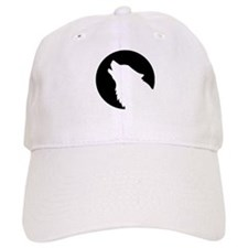 Wolf moon night Baseball Cap