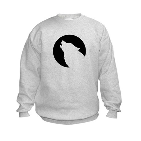Wolf moon night Kids Sweatshirt