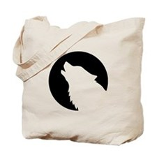 Wolf moon night Tote Bag