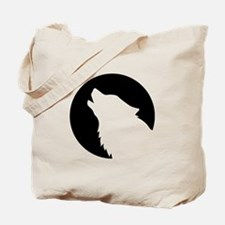 Wolf moon night Tote Bag