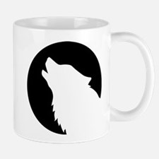 Wolf moon night Mug