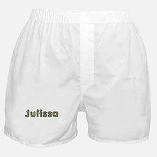 Julissa Spring Green Boxer Shorts