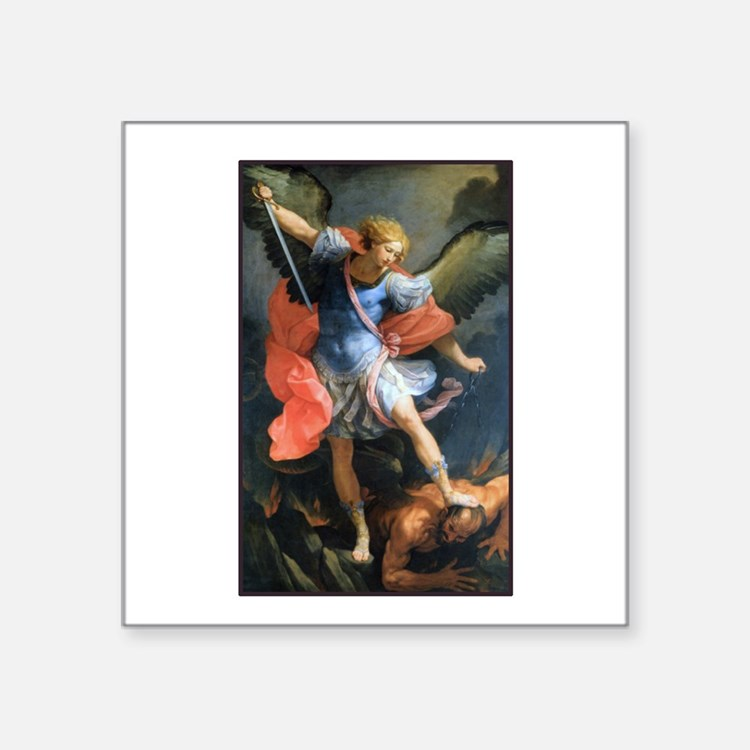 St. Michael the Archangel Rectangle Sticker