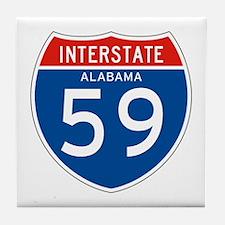 Interstate 59 - AL Tile Coaster