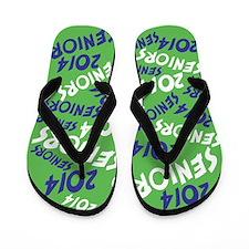 Blue and Green Senior Class OF 2014 Flip Flops