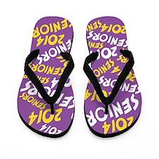 Purple Gold Yellow Senior Class OF 2014 Flip Flops