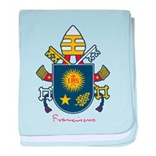 Pope Francis coat of Arms baby blanket