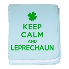 Keep Calm and Leprechaun baby blanket