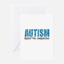 Autism Expect the Unexpected puzzle Greeting Card