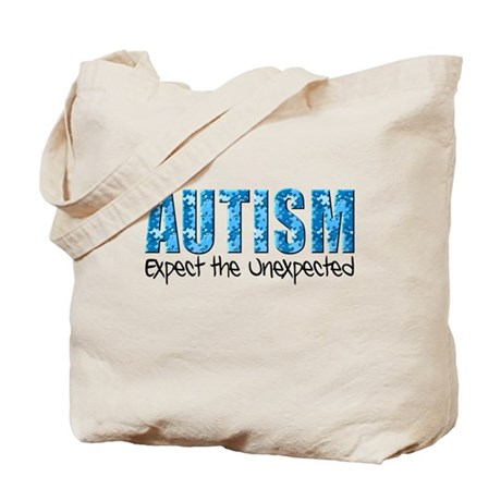Autism Expect the Unexpected puzzle Tote Bag