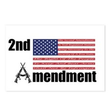 2nd Amendment AR Rifles A and Flag Postcards (Pack