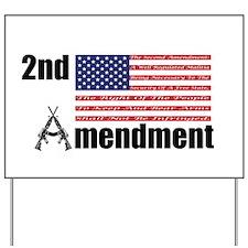 2nd Amendment AR Rifles A and Flag Yard Sign