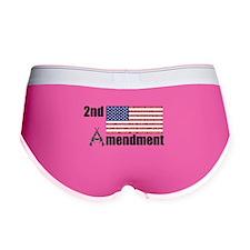 2nd Amendment AR Rifles A and Flag Women's Boy Bri