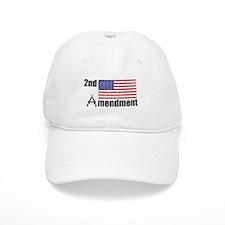 2nd Amendment AR Rifles A and Flag Baseball Baseball Cap