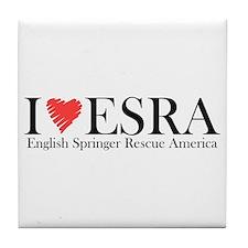 I (heart) ESRA Tile Coaster