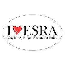I (heart) ESRA Oval Decal