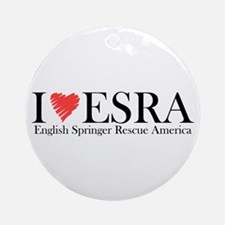I (heart) ESRA Ornament (Round)