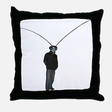 Mantis Man Throw Pillow