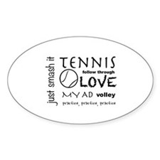 Tennis Phrases Decal