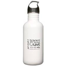 Tennis Phrases Water Bottle