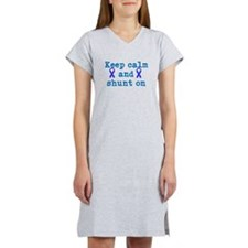 Keep Calm and shunt on Women's Nightshirt