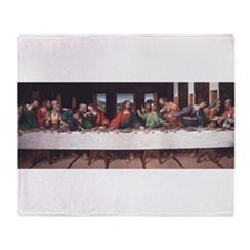 The Lords Last Supper Throw Blanket
