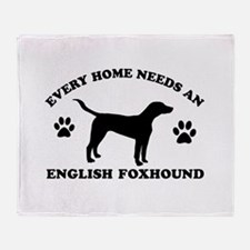 Every home needs an English Foxhound Throw Blanket