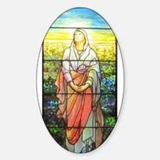 Mary, Tiffany Studios Window Decal