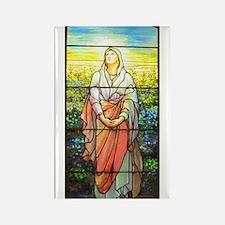 Mary, Tiffany Studios Window Rectangle Magnet