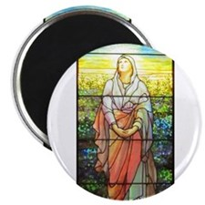 Mary, Tiffany Studios Window Magnet