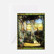 Greek Temple Garden Greeting Card