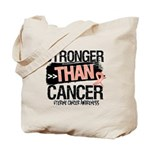 Stronger Than Uterine Cancer Tote Bag