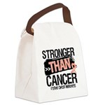 Stronger Than Uterine Cancer Canvas Lunch Bag