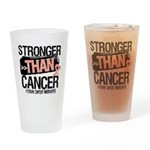 Stronger Than Uterine Cancer Drinking Glass