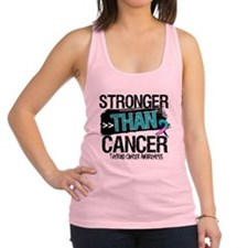 Stronger Than Thyroid Cancer Racerback Tank Top