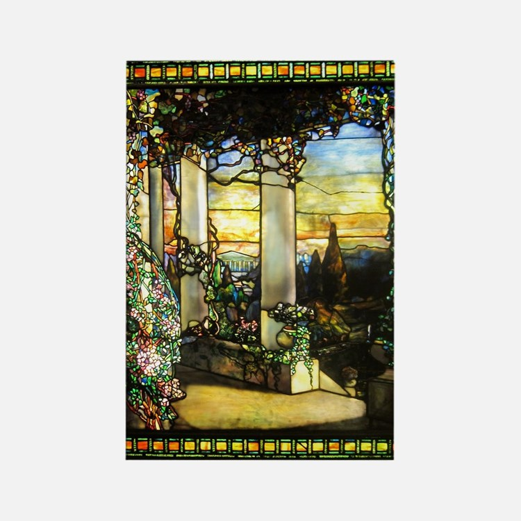 Greek Temple Garden Rectangle Magnet