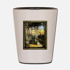 Greek Temple Garden Shot Glass