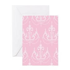 Pink Chandeliers Greeting Card