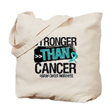 Stronger Than Ovarian Cancer Tote Bag