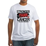 Stronger Than Oral Cancer Fitted T-Shirt
