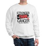 Stronger Than Oral Cancer Sweatshirt