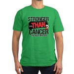 Stronger Than Oral Cancer Men's Fitted T-Shirt (da